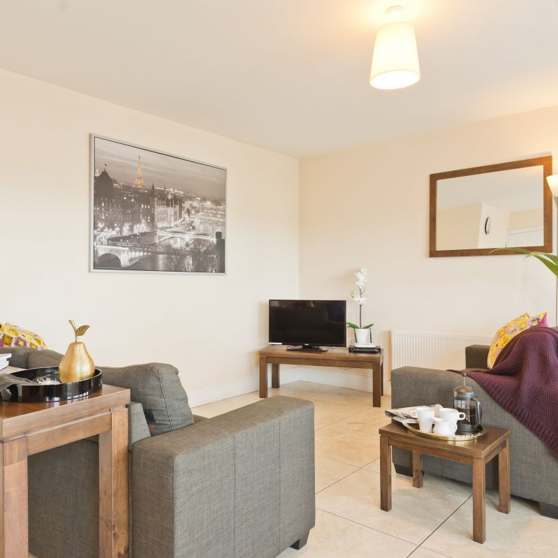 Pearse Street Suites - Living Room