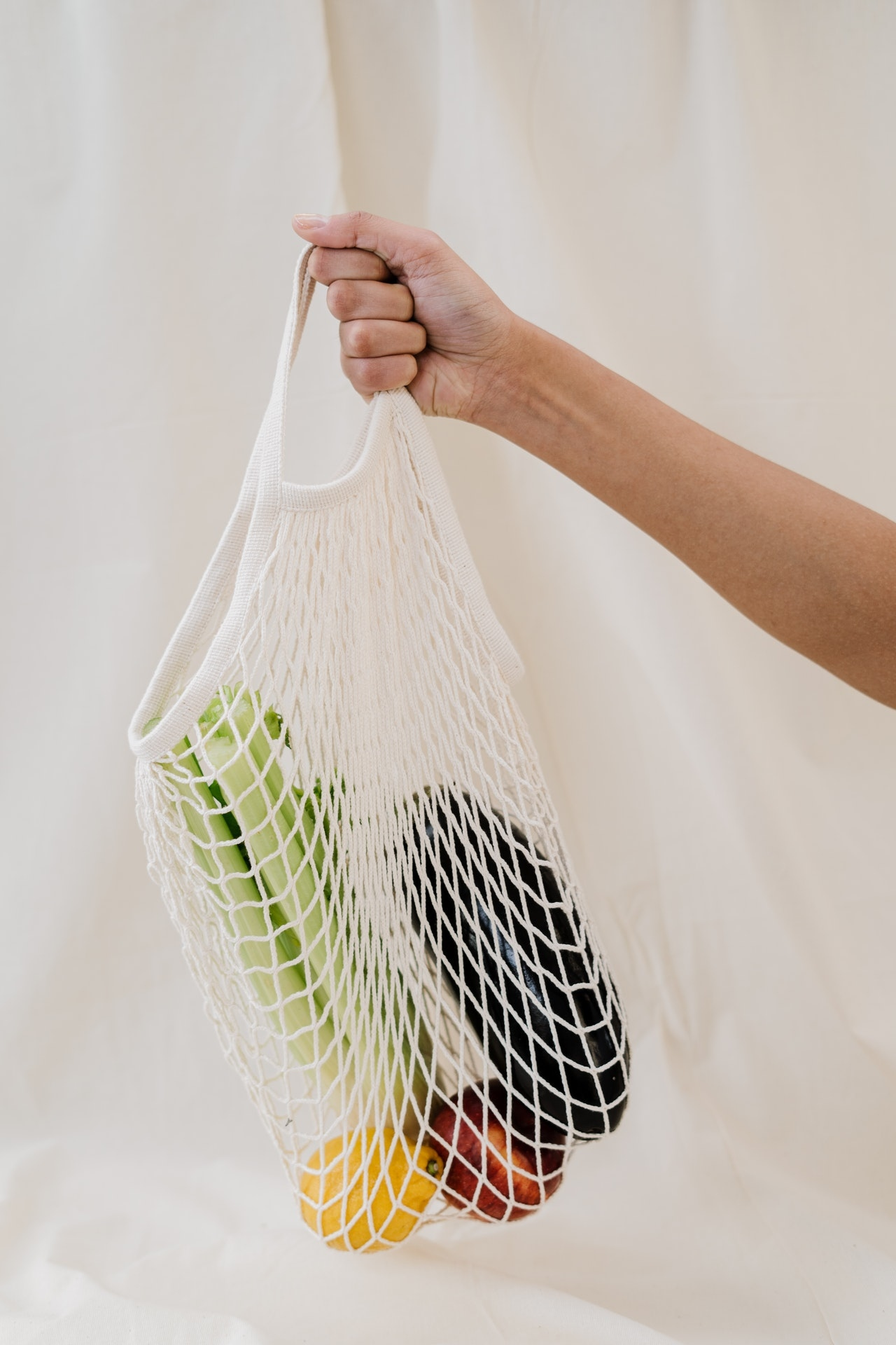 Net bag with vegetables